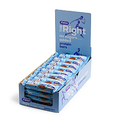 Pachet 21 Batoane proteice 26%, Fizico The Right Protein Bar, strat dublu ciocolata cu lapte, fara zaharuri adaugate, 21 buc x 60 g